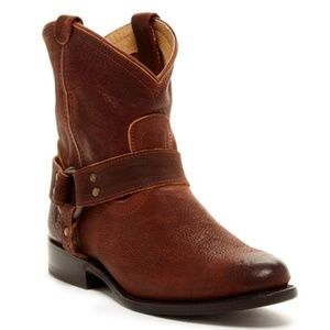 Frye Wyatt Short Leather Harness Booties 5.5B
